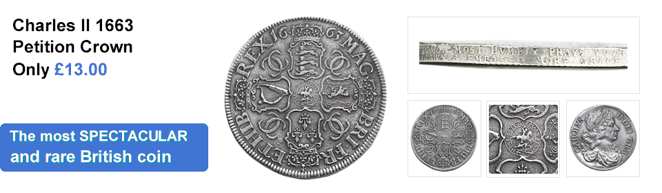 Reproduction Charles II Petition Crown Coin