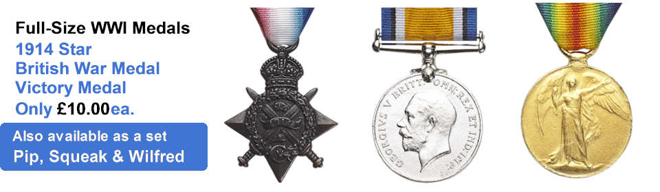 Reproduction World War I Medals