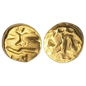 Morini Gallo-Belgic Boar Gold Quarter Stater