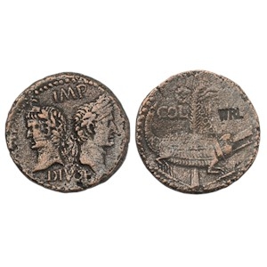 As of Augustus with Agrippa - Crocodile