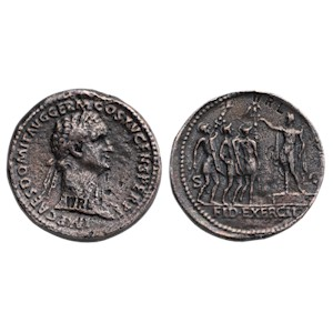 Sestertius of Domitian - Soldiers